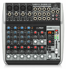 Behringer XENYX QX1202 USB Mischpult 12-Kanal Mixer 60 mm Fader Mikrofon Kanal