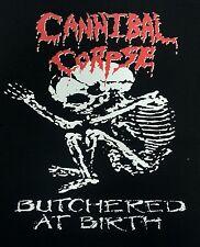CANNIBAL CORPSE DEATH METAL BLACK CANVAS BACK PATCH