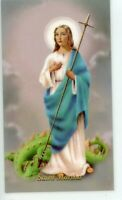 St. Martha- Novena - Relic Laminated Holy Card - Blessed by Pope Francis