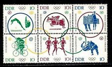 GERMANY,EAST (DDR) STAMPS #714a  — OLYMPICS BLOCK 6  --  MINT