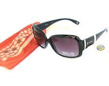 Nuevo Fossil Negro + Carey Marrón 100% UV Lentes Rectangular Gafas de Sol +