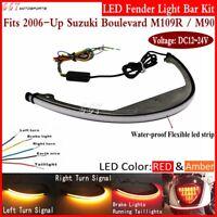 LED Tail Brake Fender Eliminator Strip Light Bar Kit For Suzuki Boulevard M109R