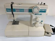 White Sewing Machine 1810 Portable Stitching Jean Machine w/ Pedal Tested
