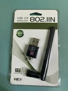 300 Mbps Wireless USB WiFi Network Adapter LAN Card w/Antenna 802.11N For PC C