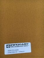 "Zweigart's Aida Fabric for Cross Stitch  14 count 18"" x 21"" Tobacco"