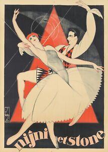 Original Vintage Poster Nijni et Stone Nicolitch Dance Art Deco 1930