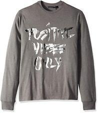 4cddd0e6abce Sean John Gray Men Size 3xl Metallic Positive Vibes Only Tee Shirt  004
