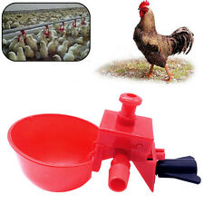 5pcs Coop Feedtomatic Poultry Water Drinking Cups Chicken Fowl_Drinker