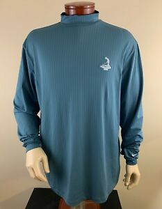 NIKE GOLF Men's Pinehurst 1895 Mock Neck Long Sleeve Golf Pullover Shirt Sz XL