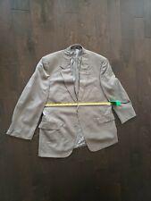 STAFFORD EXECUTIVE Brown Striped Jacket 85% Wool,15% Silk