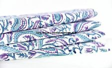 2.5 Yards Indian Handmade Printed Fabric Hand Block Print Cotton Dress Fabric