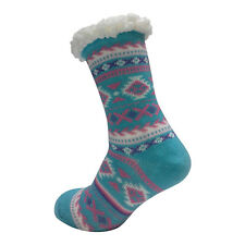 LADIES WARM THERMAL INSULATED THICK WINTER SOCKS 4.7 TOG UK 6-11 399E BLUE HEEL
