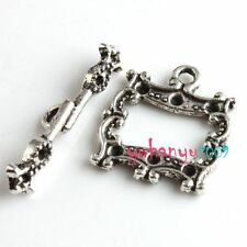 Jewelry Accessory 8 Tibet Silver Plated Toggle Clasps Findings