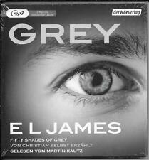 2 MP3 E L James `GREY Fifty Shades of Grey` NEU/OVP von Christian selbst erzählt