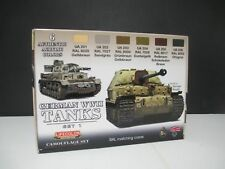 LIFECOLOR PAINT German WWII Tanks #1 Camouflage Acrylic Set (6 22ml Bottles)