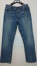 RICHMOND JEANS UOMO BLU TAGLIA 50 SCRITTA RICH RETRO CON PATCH RICAMO SIZE 36