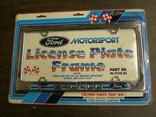 NOS OEM Ford Bronco License Plate Frame Motorsport 1984 1985 1986 1987 1988 1989