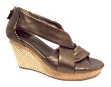 COLE HAAN Size 8 Bronze Delfina Espadrille Wedges Sandals Shoes w/ N. Air