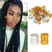 100X Dreadlock Hair Beads Hair Braid Pins Ring Cuff Clips Jewelry Extension Tool