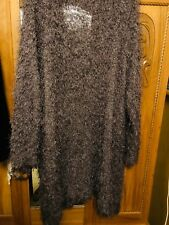 Evans Long Fluffy Sparkly Cardigan Approx 28/30