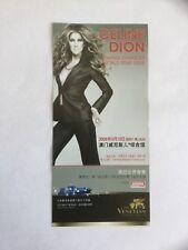 ¤¤ Rare flyer CELINE DION - Concert au VENETIAN ARENA de MACAO en mars 2008 ¤¤