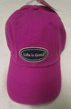 Life Is Good Womens Lig Oval Chill Baseball Ball Hat Cap Magenta OS