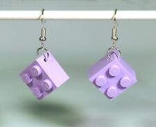Earrings made with LEGO bricks - lavender