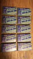Lot of 10 Packages Vintage Waltham Double Edge Surgical Steel Shaving Blades