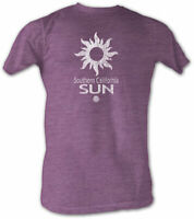 Southern California Sun WFL Purple Logo Men's Lightweight Tee Shirt Sizes S-2XL