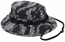 Urban Tiger Stripe Camouflage Boonie Bucket Hat w/ Chin Strap Rothco 5540