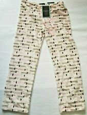 Cynthia Rowley Pink   Pajama Pant with Dachshund Dog Design Size Med
