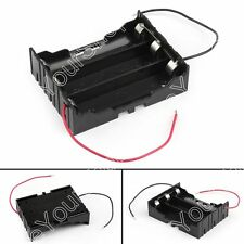 1Pcs 3 Cell 18650 Parallel Battery Holder Case For 3.7V Battery With Leads B2