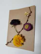Hand made Dried flower Greeting Card Invitation Birthday Party with Case