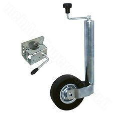 Stützrad + Halter 60mm für 300kg Stützlast Schwerlaststützrad für Pkw Anhänger