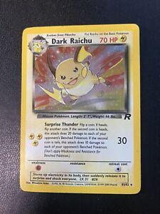 Pokemon - Dark Raichu 83/82 Team Rocket Rara Holo - Good + ENG