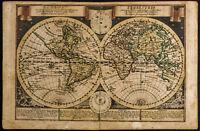 1749 - Globus Terrestris - Landkarte Antik/Mappemonde. von Schreiber