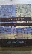 WORLD HISTORY, VOLUME 2, DUIKER, SPIELVOGEL, KOSSO (2007) SOFT COVER