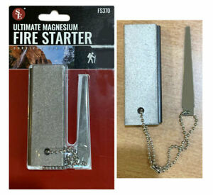 Camping Survival Magnesium Fire Starting Block Bar Flint Firestarter 75*25m Gray