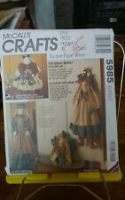Mccalls Crafts 752/5985 Great Bunny Coverup Vacuum sewing machine Faye Wine NEW