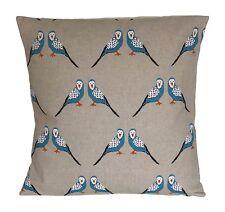 "1 x 16"" Budgies Blue Birds Cotton Cushion Covers"