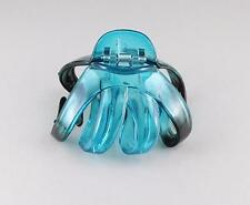 Teal octopus hair clip big spider barrette plastic claw jaw clamp clear ombre