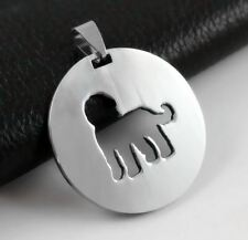 Stainless Steel Labradoodle Silhouette Goldendoodle Pet Dog Id Tag Charm Pendant