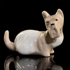 RUSSIAN Imperial Lomonosov Porcelain Sculpture Figurine Scottish Terrier Dog