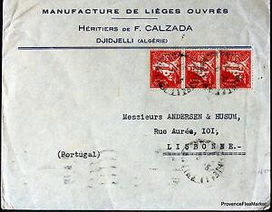 Algeria 1934 Letter Kolwezi Lisbon Envelope 165CA118