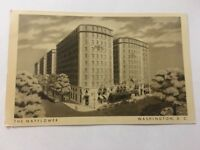 Vintage Postcard Unposted B&W The Mayflower Washington DC