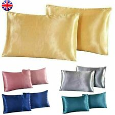 Hot! Soft Silk Pillowcase Satin Pillow Cases Cushion Cover Home Bedding 1/2/4pcs