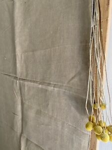 Antique French SOFT LINEN panel NATURAL tone UPHOLSTERY c1900