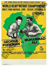 """Muhammad Ali vs. George Foreman """"Rumble In The Jungle"""" 1974 Zaire  Reproduction"""