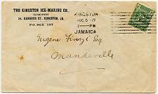 JAMAICA 1919 Prited Advertising Envelope ICE MAKING COMPANY.. MANDEVILLE SQ Circ