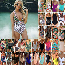 Womens One Piece Swimsuit Push up Monokini Bathing Bikini Swimwear Beachwear